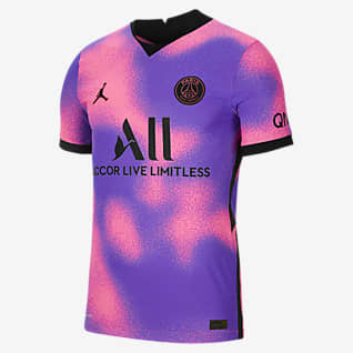 Czwarta koszulka Paris Saint-Germain 2021/22 Vapor Match Męska koszulka piłkarska