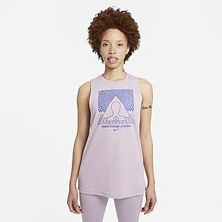 Nike Yoga Damska koszulka bez rękawów z grafiką