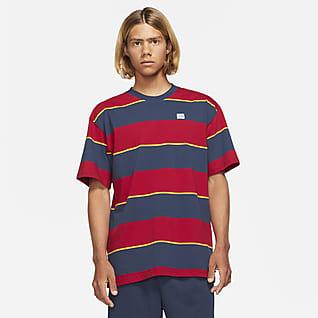 Nike SB Randig skateboard-t-shirt för män