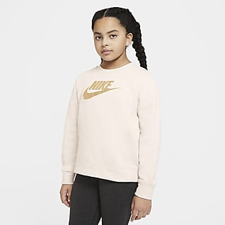 Nike Sportswear Sudadera de cuello redondo para niña talla grande (talla extendida)