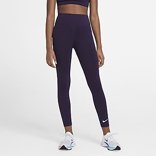 Nike One Big Kids' (Girls') High-Waisted Training Leggings
