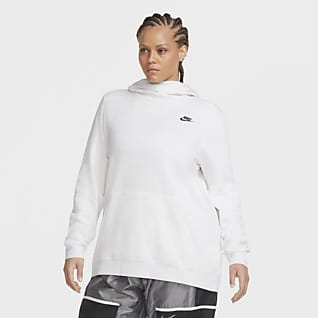Nike Sportswear Women's Fleece Funnel-Neck Hoodie (Plus Size)