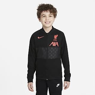 利物浦 大童全长拉链开襟足球夹克