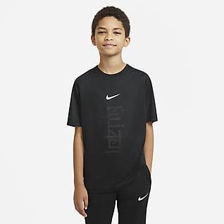 Nike Dri-FIT Kylian Mbappé Κοντομάνικη ποδοσφαιρική μπλούζα για μεγάλα παιδιά