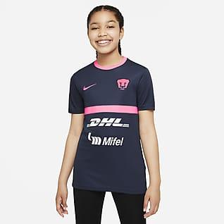 Pumas UNAM Academy Pro Playera de fútbol de manga corta Nike Dri-FIT para niños talla grande