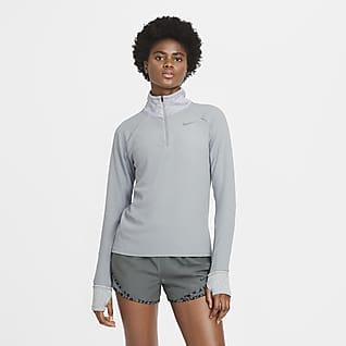 Nike Sphere Женская беговая футболка с молнией на половину длины