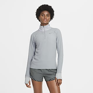 Nike Sphere Løpeoverdel med glidelås i halsen til dame