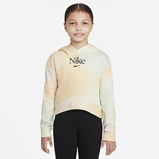 Nike Sportswear Sudadera con gorro sin cierre de French Terry para niña talla grande