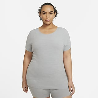 Camiseta de manga corta Nike Yoga Luxe Playera para mujer (talla grande)
