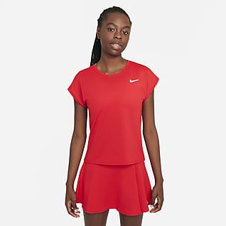 NikeCourt Dri-FIT Victory Kortærmet tennisoverdel til kvinder