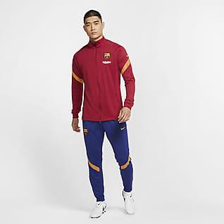 F.C. Barcelona Strike Men's Knit Football Tracksuit