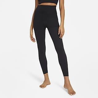 Nike Yoga Luxe Layered Женские слегка укороченные леггинсы