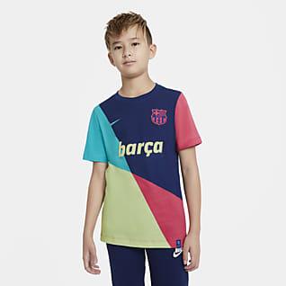 FC Barcelona T-shirt piłkarski dla dużych dzieci