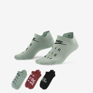 Nike Air Everyday Plus Calcetines de entrenamiento invisibles para mujer (3 pares)