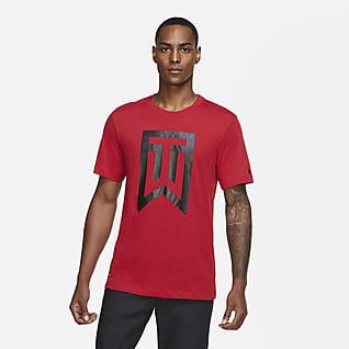 Tiger Woods Tee-shirt de golf avec logo pour Homme