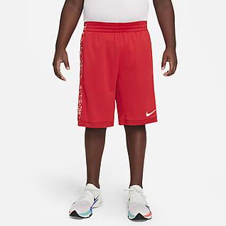Nike Dri-FIT Trophy Shorts de entrenamiento estampados para niño talla grande (talla amplia)