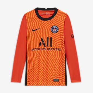 Paris Saint-Germain 2020/21 Stadium de portero Camiseta de fútbol para niños talla grande