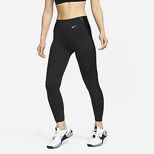 Nike Dri-FIT One Luxe Icon Clash เลกกิ้งพิมพ์ลายเอวปานกลาง 7/8 ส่วนผู้หญิง