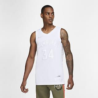密尔沃基雄鹿队 (Giannis Antetokounmpo) MVP Nike NBA Jersey 男子球衣