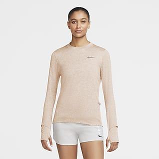 Nike Dri-FIT Element Playera de running de cuello redondo para mujer