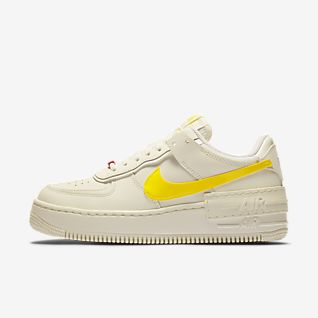 nike air force one femme blanche et jaune