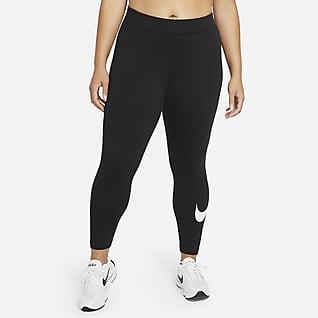 Nike Sportswear Essential Γυναικείο κολάν μεσαίου ύψους με σχέδιο Swoosh (μεγάλα μεγέθη)