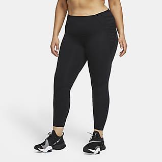 Nike One Luxe 7/8-Leggings mit Spitze für Damen (große Größe)