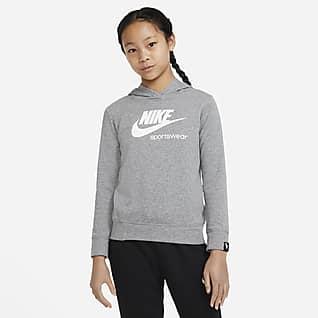 Nike Sportswear Heritage Sudadera con capucha sin cierre para niña talla grande