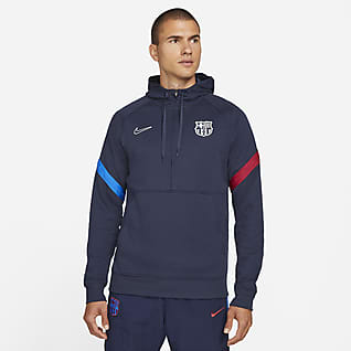 F.C. Barcelona Men's Nike Dri-FIT 1/2-Zip Football Hoodie