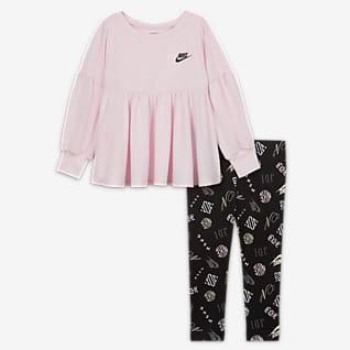 Nike Souprava trička s kapucí a legín pro kojence (12–24 měsíců)