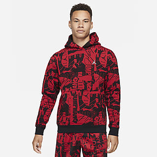 Jordan Essentials Men's Fleece Printed Hoodie