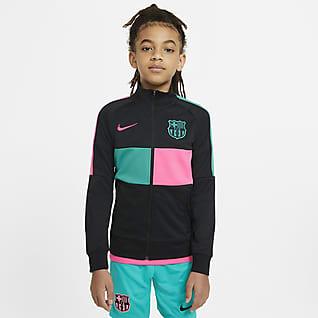 F.C. Barcelona Older Kids' Full-Zip Football Tracksuit Jacket
