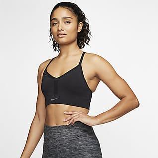 Nike Indy Gewatteerde sport-bh met naadloos design en lichte ondersteuning