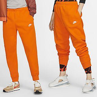 nike pants orange