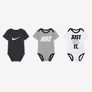 Nike Conjunto de bodies para bebé (0-9M) (3 piezas)