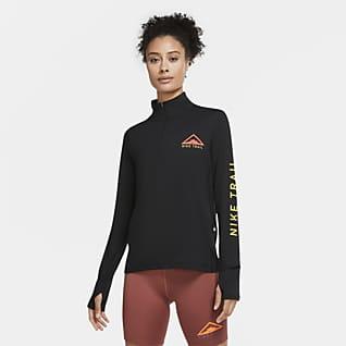Nike Camiseta de trail running de medio cierre para mujer
