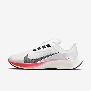 Nike Air Zoom Pegasus 38 FlyEase Eenvoudig aan en uit te trekken hardloopschoen voor heren (extra breed)