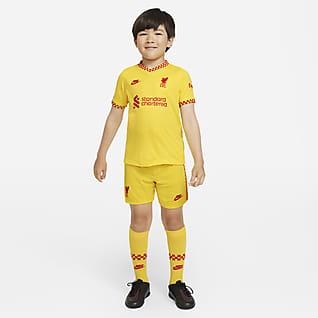Liverpool FC 2021/22 (wersja trzecia) Strój piłkarski dla małych dzieci Nike Dri-FIT