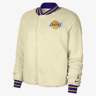 Los Angeles Lakers Courtside Nike NBA-Bomberjacke für Damen