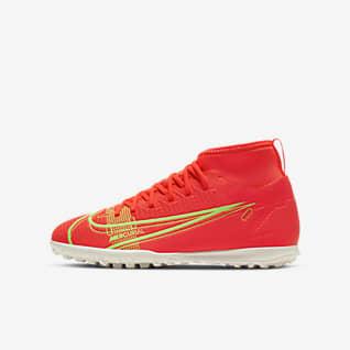 Nike Jr. Mercurial Superfly 8 Club TF Sapatilhas de futebol para relva artificial para criança/Júnior
