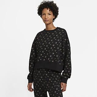 Nike Sportswear Fleecetröja med rund hals för kvinnor