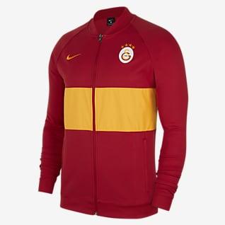 Galatasaray Tam Boy Fermuarlı Erkek Futbol Antrenman Ceketi