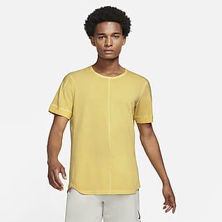Nike Yoga Barvené pánské tričko skrátkým rukávem