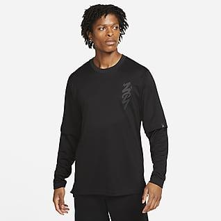 Zion Мужская футболка с длинным рукавом для разминки