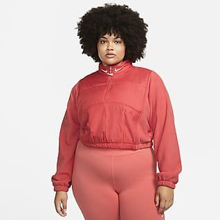 Nike Sportswear Swoosh Women's Easy Plush 1/4-Zip Top (Plus Size)