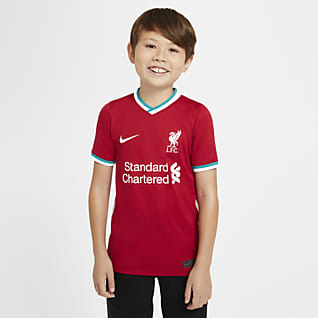 Liverpool FC 2020/21 Stadyum İç Saha Genç Çocuk Futbol Forması