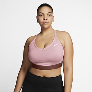 Nike Dri-FIT Indy Sports-BH med lett støtte til dame (Plus Size)