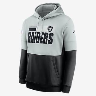 Nike Therma Team Name Lockup (NFL Las Vegas Raiders) Men's Pullover Hoodie