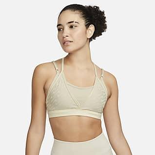 Nike Dri-FIT Indy Icon Clash Damski stanik sportowy z wkładką i wzmocniony paseczkami zapewniający lekkie wsparcie