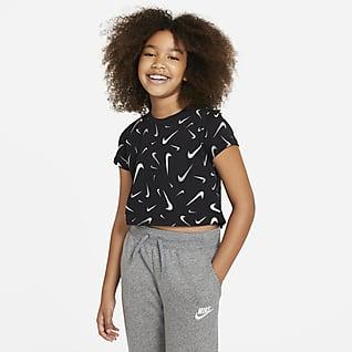 Nike Sportswear 大童 (女童) 短版 T 恤